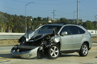 image of car after accident