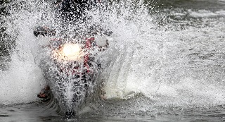 image of motorcycle in water