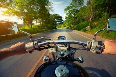 image of motorcycle rider in texas