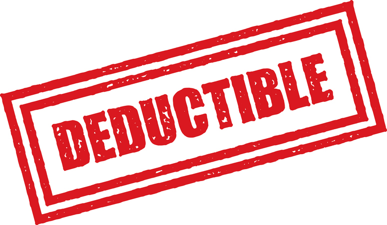 image of deductible sign