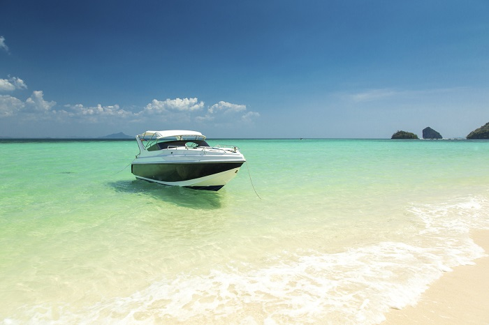 Boat on a Beach in the Tropics