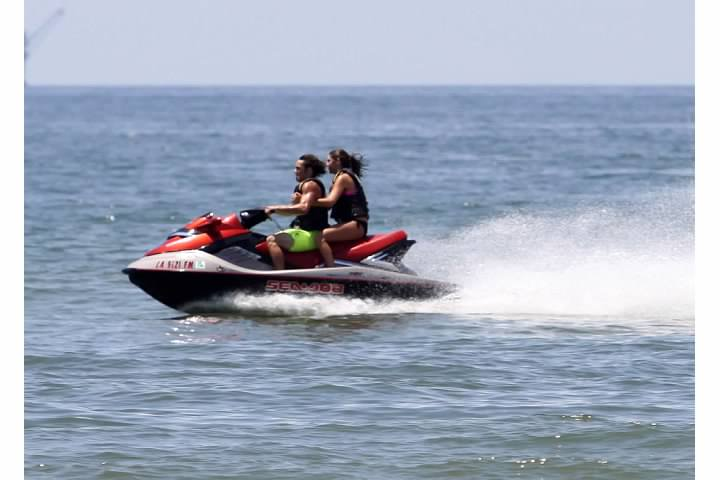 image of beaumont resident on jetski