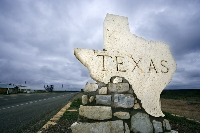 Stone Texas Welcome Sign